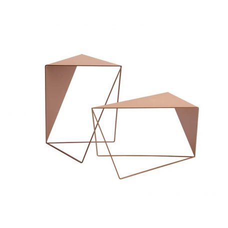 MUNK Collective - INVERSE TABLE - metalen bijzettafel, salontafel - ROZE