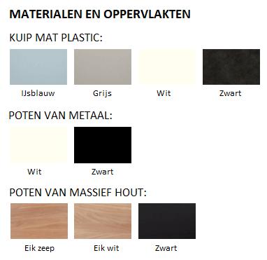 AC3 Stoel - Materialen & Oppervlakten