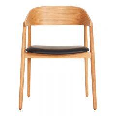 ANDERSEN Furniture - AC2 stoel geolied eiken_zwart leer