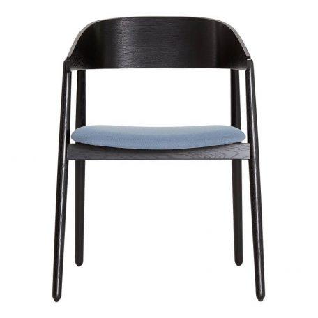 ANDERSEN Furniture - AC2 stoel zwart eiken_blauw