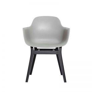 ANDERSEN Furniture - AC3 stoel - Polyester kuipstoel met eiken poten Grijs_Zwart