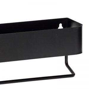Hubsch Interior - Mat zwarte wandplank van metaal (210501)