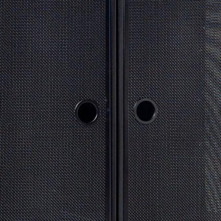 Hubsch Interior - Vintage gaaskast van zwart metaal, opbergkast (020801)