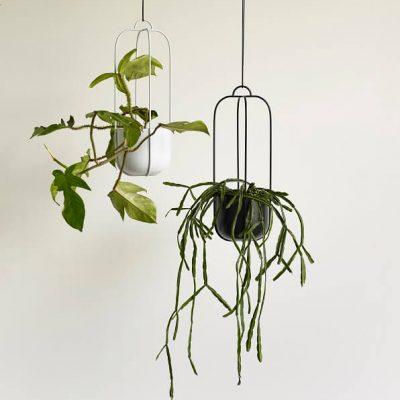 Hubsch Interior - Grijs metalen hangpotten set - (940803)