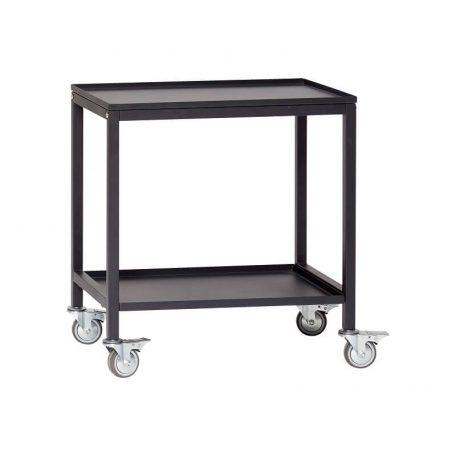 Hubsch Interior - Zwart metalen trolley (020401)