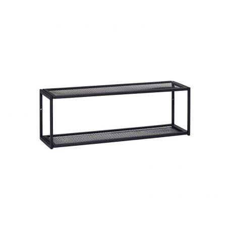 Wandplank Zwart Metaal Hout.Hubsch Interior Zwart Metalen Wandplank Wandrek 60x15xh20cm