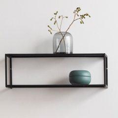 Hubsch Interior - Zwart metalen wandplank, wandrek (020712)