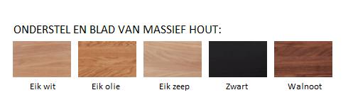 T1 - Onderstel en blad van massief hout