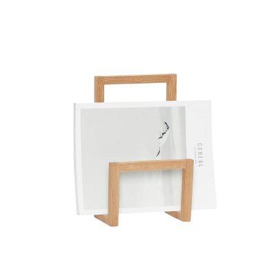HUBSCH INTERIOR - Eiken magazinehouder tafel of muur - (880419)