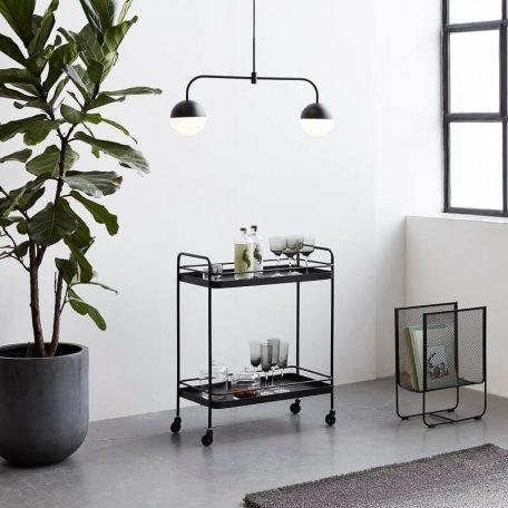 HUBSCH INTERIOR - Zwart tijdschriftenrek van metaal (020708)