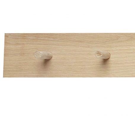 Hubsch Interior - Eiken wandkapstok met 10 haakjes - 140cm (889046)