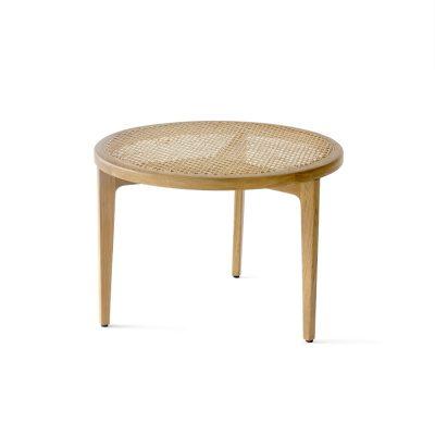 NORR11 - LE ROI eiken salontafel met rotan blad - 60xh42cm