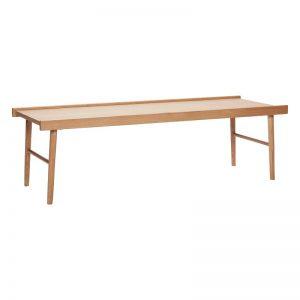 Hubsch Interior – Rechthoekige eiken salontafel 137x50xh41 cm