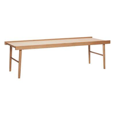 HUBSCH INTERIOR – Rechthoekige eiken salontafel FSC® – 137x50xh41 cm