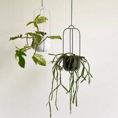 Hubsch Interior - Wit metalen hangpotten set - (940802)