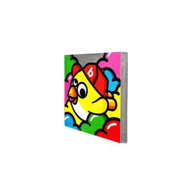 Lyon Béton - Urban Art - OISEAU VOLANT ET SA CASQUETTE (D-09103-BK-029)