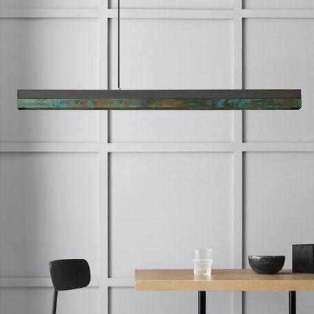 GANTlights - C1 hanglamp donker beton geoxideerd koper