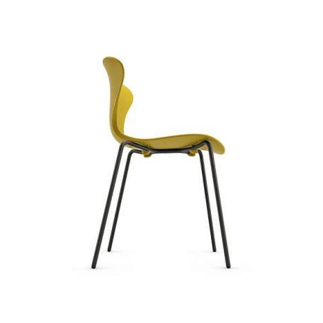 COOL Collection - FPC Vlinderstoel 4 poot zwart - Zitschaal Curry (CY).3