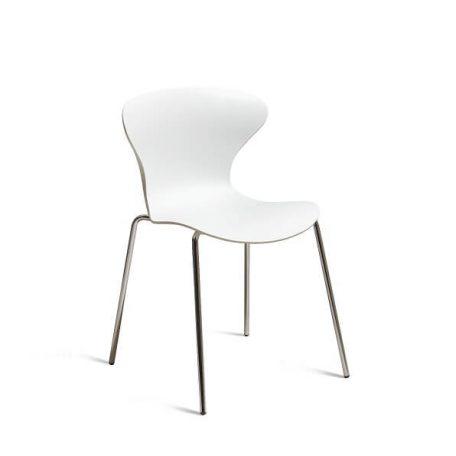 COOL Collection - FPC Vlinderstoel 4 poot chroom - Zitschaal Wit (BI)