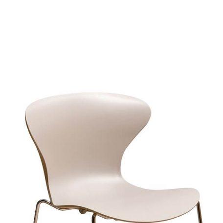 COOL Collection - FPC Vlinderstoel 4 poot chroom - Zitschaal Beige-Zand (SA)