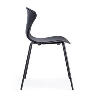 COOL Collection - FPC Vlinderstoel 4 poot zwart - Zitschaal Zwart (NE)