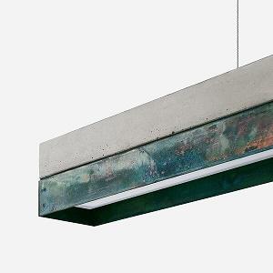 GANTlights C1 - hanglamp van beton en geoxideerd koper