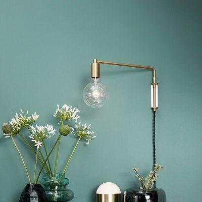 Hubsch Interior - Messing wandlamp met Globe LED gloeilamp - 890501