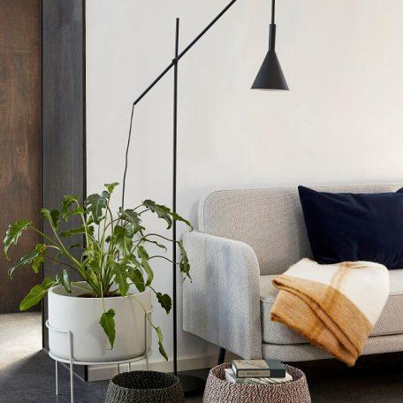 Hubsch Interior - Lichtgrijze 3-zitsbank met zwart metalen poten - 100909