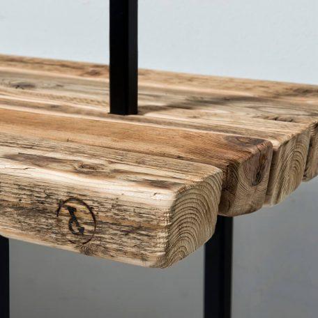 WELD & CO - Kapstok van gerecycled hout en metaal - Detail
