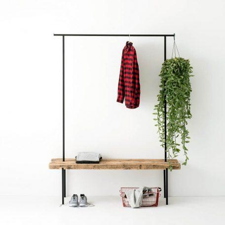 WELD & CO - Kapstok van gerecycled hout en metaal - Large