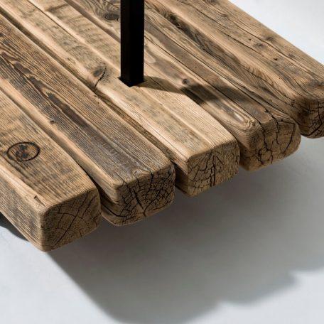 WELD & CO - Kledingrek van metaal en sloophout - Detail