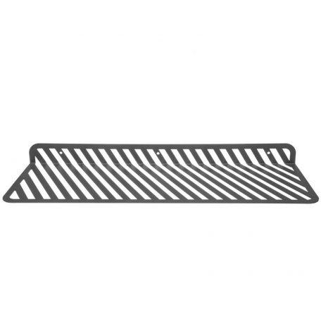 WELD & CO - GRID 01 - Wandplank van metaal met sleuven - Antraciet