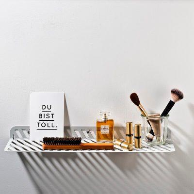 WELD & CO - GRID 01 - Wandplank van metaal met sleuven - Lichtgrijs