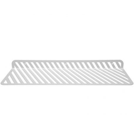 WELD & CO - GRID 01 - Wandplank van metaal met sleuven - Wit