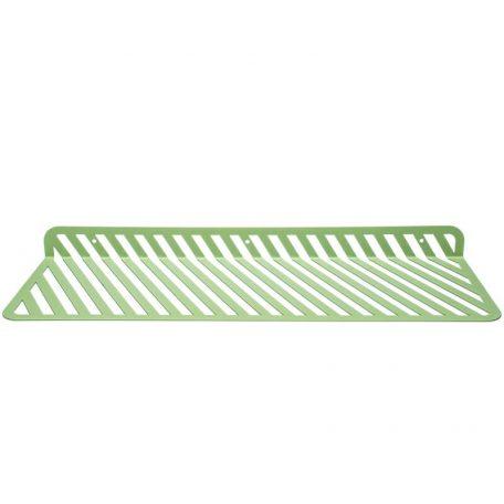 WELD & CO - GRID 01 - Wandplank van metaal met sleuven - Witgroen