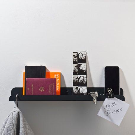 WELD & CO - SOLID 02 Wall Shelf - Wandplank van metaal - Antraciet