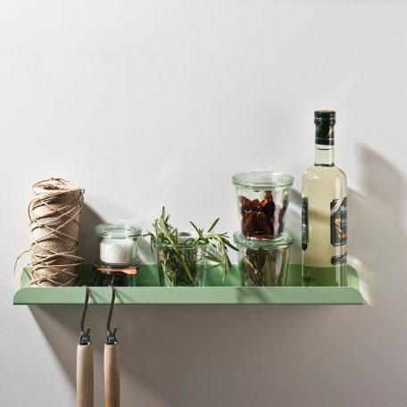 WELD & CO - SOLID 02 Wall Shelf - Wandplank van metaal - Pastelgroen