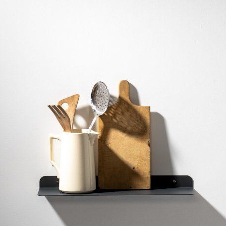 WELD & CO - Solid 01 Wall Shelf - Wandplank van metaal - Antraciet
