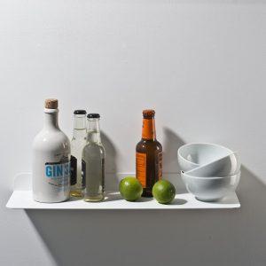 WELD & CO - Solid 01 Wall Shelf - Wandplank van metaal - Wit