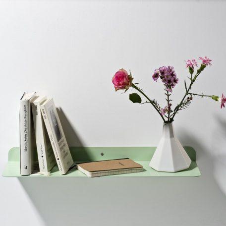 WELD & CO - Solid 01 Wall Shelf - Wandplank van metaal - Pastelgroen