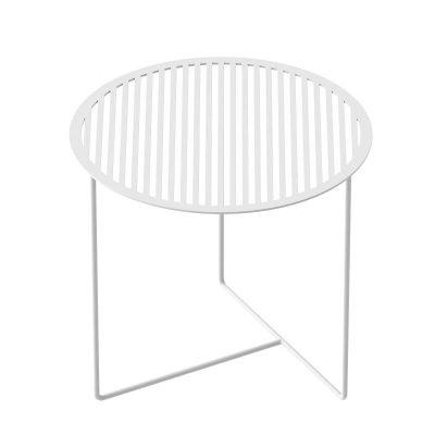 WELD & CO - GRID 01 Side Table - Ronde wit metalen bijzettafel