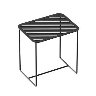 WELD & CO - GRID 02 Side Table - Rechthoekige zwart metalen bijzettafel