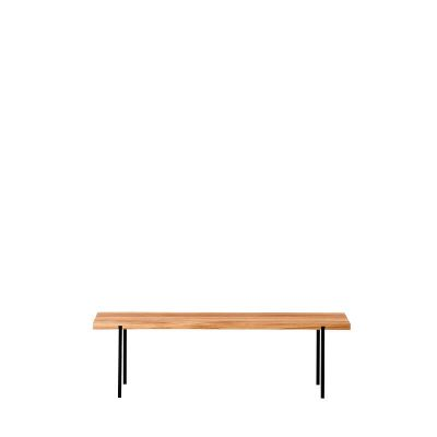WELD & CO - Oak 01 Bench - Bankje van geolied eiken en staal - LARGE