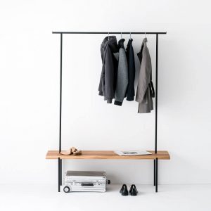 WELD & CO - Oak 01 Coat Rack - Kapstok van geolied eiken en metaal - LARGE