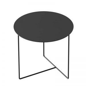 WELD & CO - SOLID 01 Side Table - Ronde zwart metalen bijzettafel