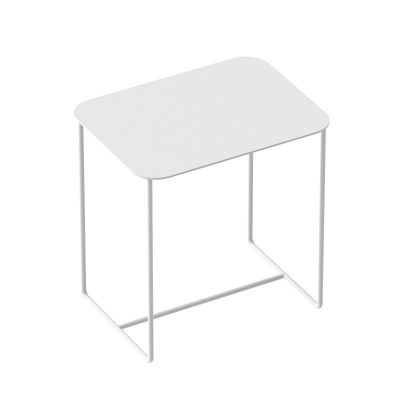 WELD & CO - SOLID 02 Side Table - Rechthoekige wit metalen bijzettafel