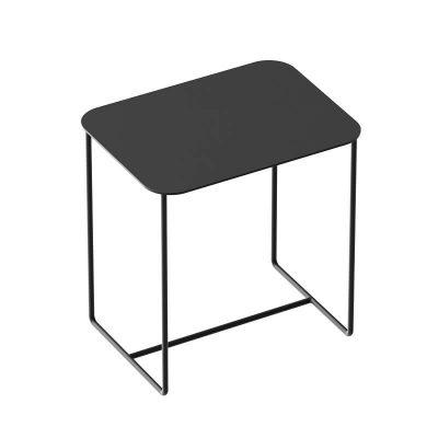WELD & CO - SOLID 02 Side Table - Rechthoekige zwart metalen bijzettafel