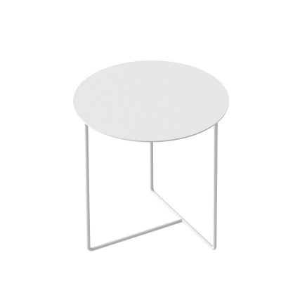 WELD & CO - SOLID 03 Side Table - Ronde bijzettafel van wit metaal