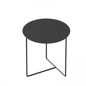 WELD & CO - SOLID 03 Side Table - Ronde bijzettafel van zwart metaal