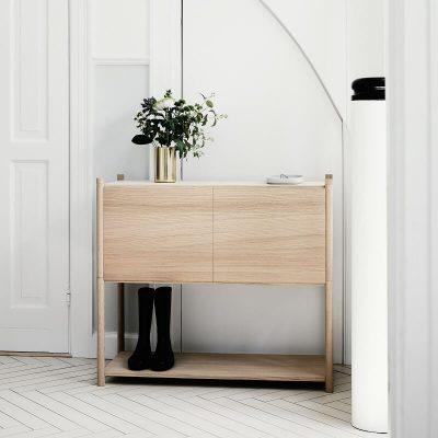 GEJST SCEENE C - Naturel eiken Wandkast Boekenrek TV-meubel